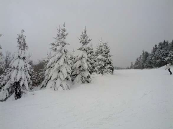 Great condition, snowed all night...