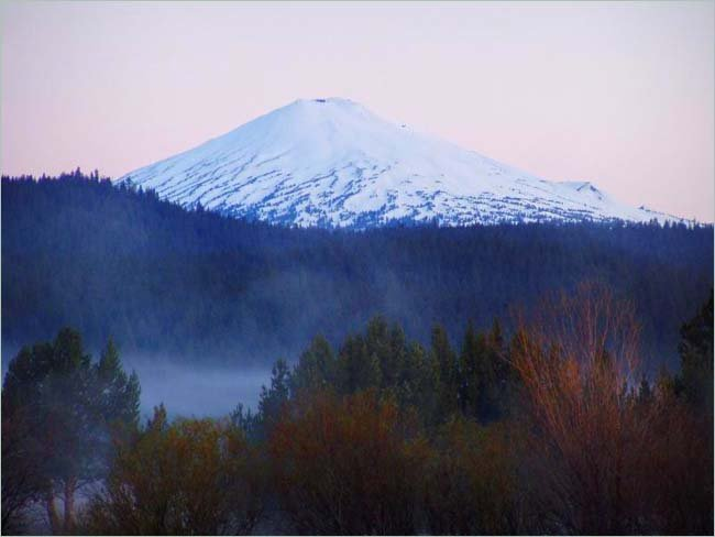 A scenic view of Mt. Bachelor, Oregon