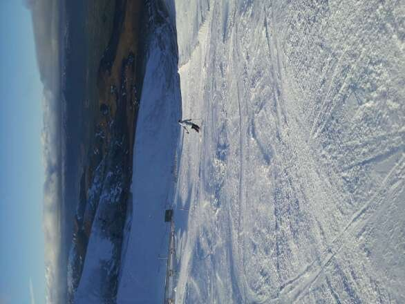 Really good skiing yesterday on the white lady and off the traverse towards fiacall Ridge poma.