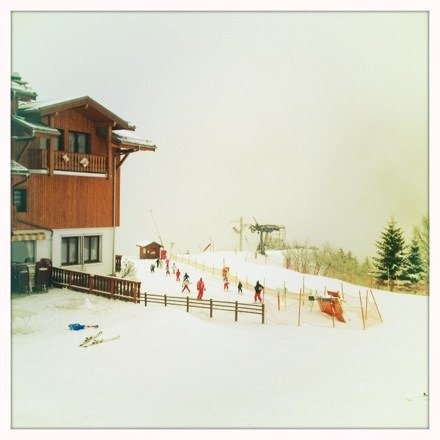 Nice lot of new snow today! Heavy powder but it should be good skiing this weekend if it doesn't rain!