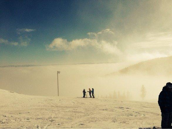 A little foggy...ok a lot foggy. Hopefully it'll clear out tomorrow.