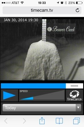 As of 730 pm recording 15 inches on the day. No child's play.