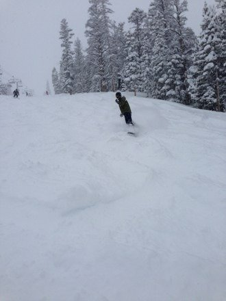Sweet pow..  The best conditions I've skied in since moving here last year