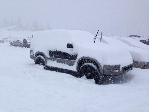 There's a 4runner under there somewhere