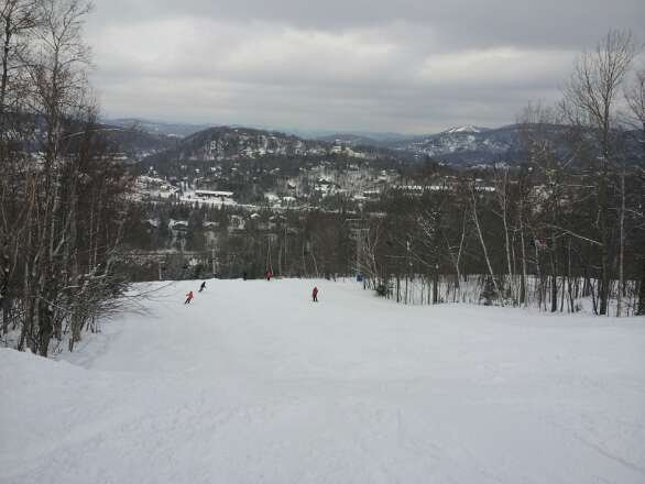 Nice day. -1c.  groomed powder.  Excellent conditions!  Would be nice of some was left ungroomed   ;)