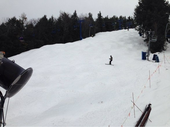 2/2: Great job with the conditions even after days of 40f. Plenty of wet snow to push around.