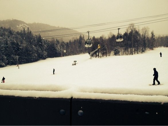 Powder everywhere! And it's still coming down!