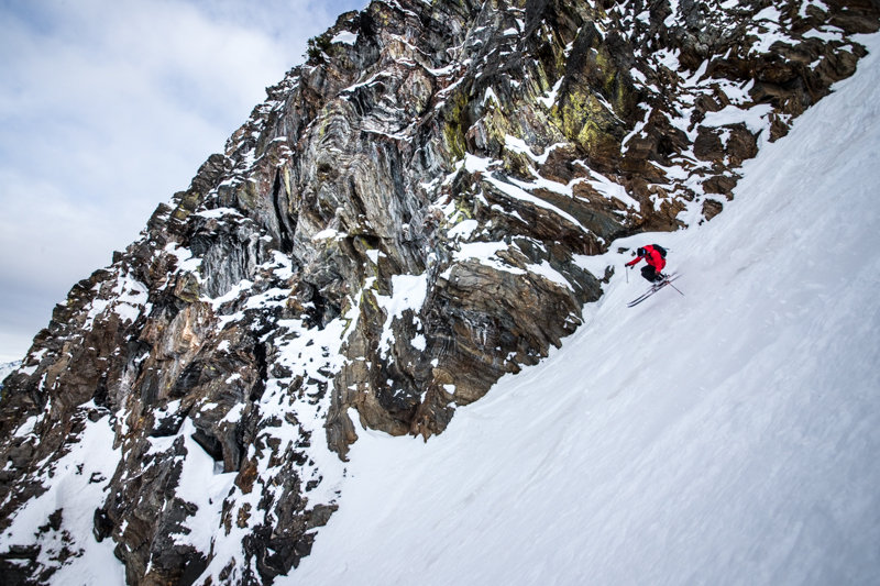 Some of the best steep skiing in North America can be found at Revelstoke. Skier Todd Ligare - © Liam Doran