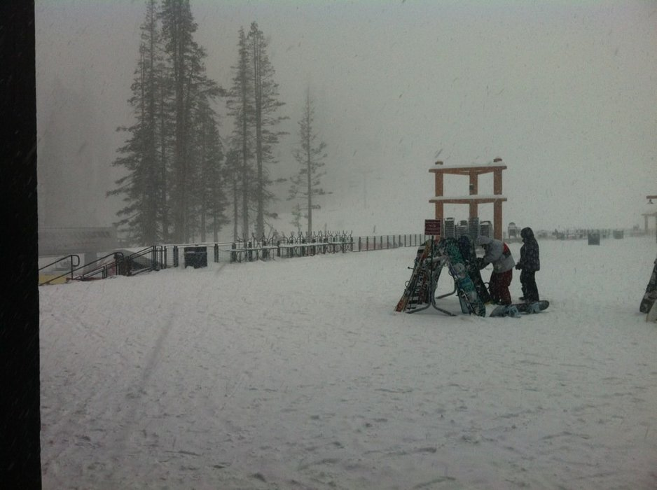 was there yesterday. Grandview Express to the top of the mountain was closed due to wind hold, but the other half and backside were open with great coverage. By noon it started dumping about 2-4 inches per hour. Awesome fresh pow and tree runs!