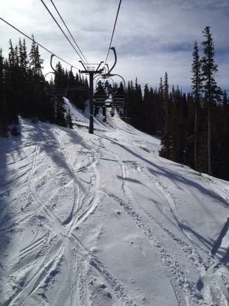 No lines, powder on apache and cyclone, warm and sunny.
