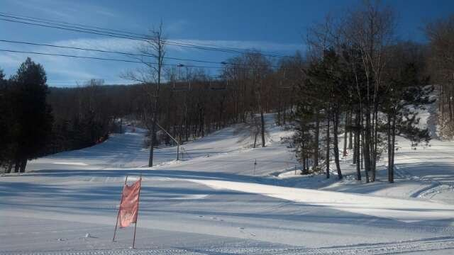 a fine daya little cold calm wind and full sun till about 2pm then clouds with light snow flurriesthe cold dry air is helping keep the snow  powder likeonly found the top of dot to be skied off after lunchheading back on Wednesday for more of the same