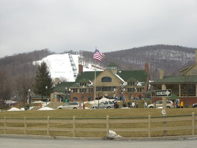 A view from the entrance of Whitetail Resort, Pennsylvania.