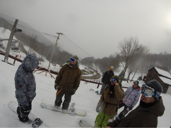 Epic conditions on 2/15 at the hidden