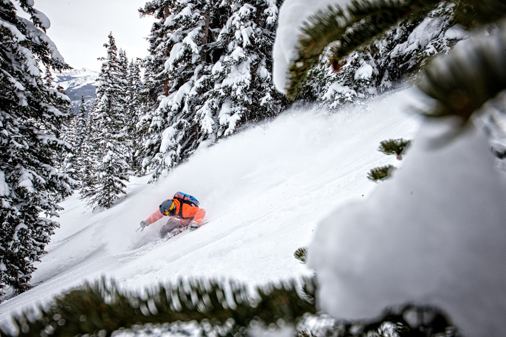 Adam Moszynski gets back to work, tearing up Aspen Mountain. - © Liam Doran
