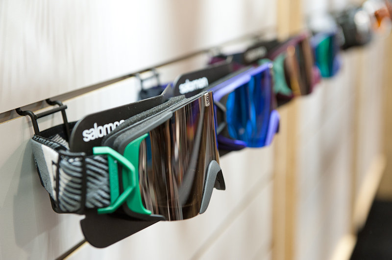 Salomon's new X-TEND goggle line.  - © Ashleigh Miller Photography