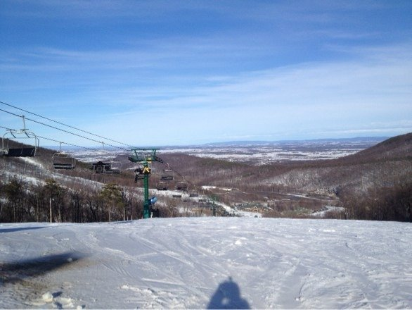 Place was awsome today after the rain stopped snow still awsome had the whole mountain to shred up