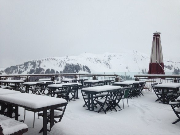 Nice and cosy fresh air! Loads of snow