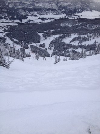 Bridger was amazing this past weekend, go to PK's and hit the trees, so much pow in the trees!