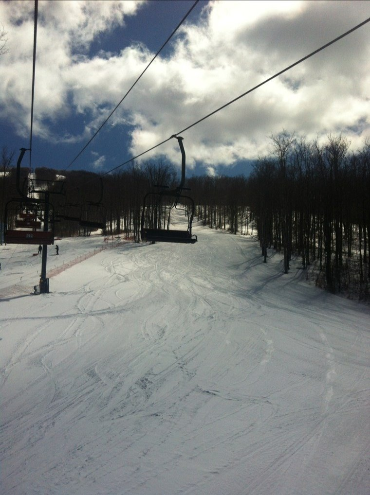 Pretty nice condition. A little bit icy in some sections but overall are good for spring skiing. Enjoy your last chance to hit the slopes this season.