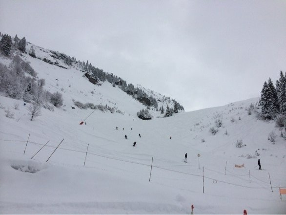 It's been snowing heavy overnight and all day ! Conditions are very good !