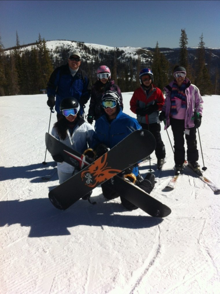 3/25/14 Awesome skiing and beautiful weather! Great Spring break trip so far!