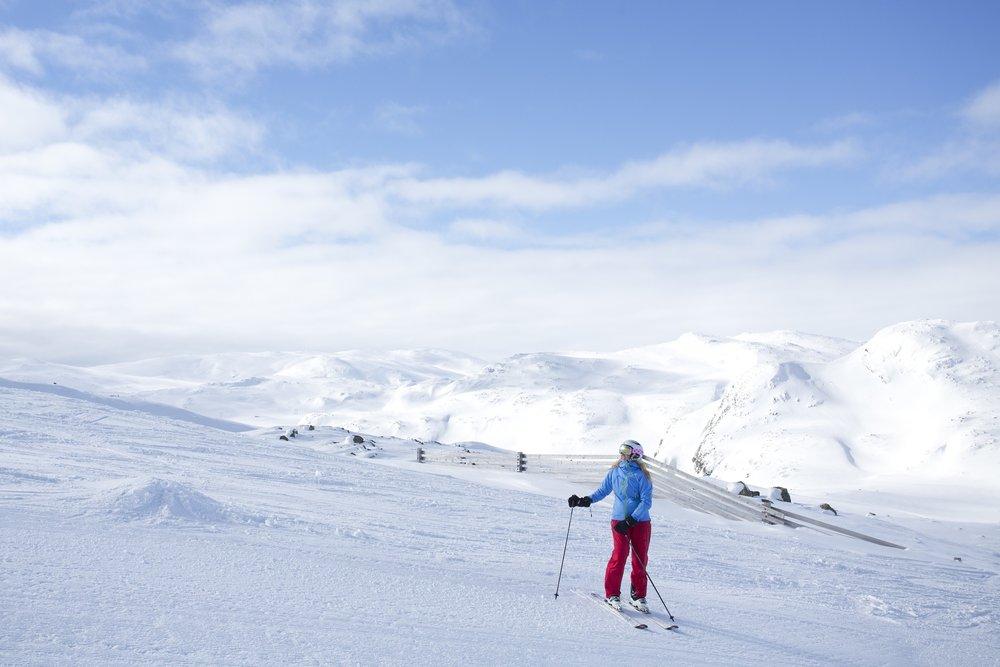 Sol og god snø, akkurat slik vi liker Hemsedal. - © Kalle Hägglund