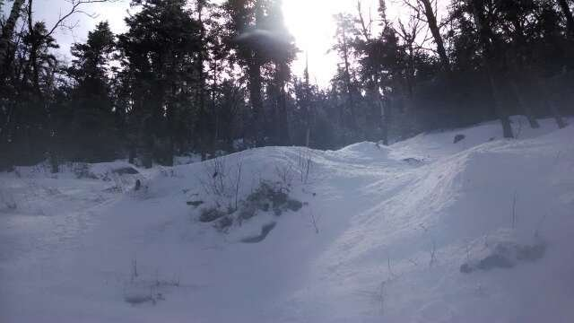 kinsman glade! hero snow today! sun came out no lift lines! had a good day