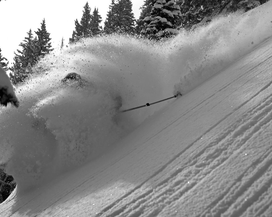 Alta looking good all the way through late season, 2014.  - © Joe Johnson