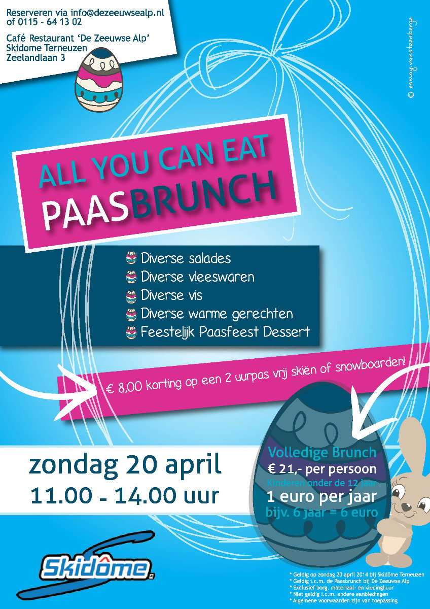 Easter brunch at Dutch indoor centre Skidôme - © Skidôme
