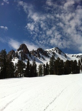 Great spring conditions today!  Upper mountain in great condition and the sun was shining