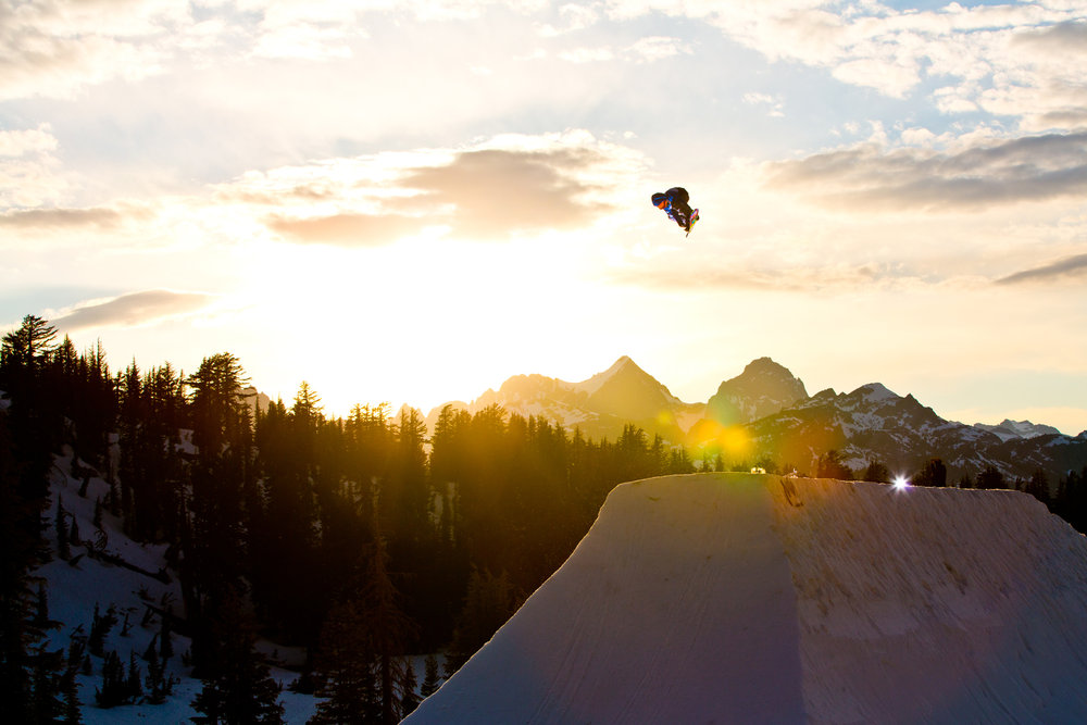 Mammoth's award-winning park program has been taking terrain park design to the next level since the early 90s. - ©Peter Morning
