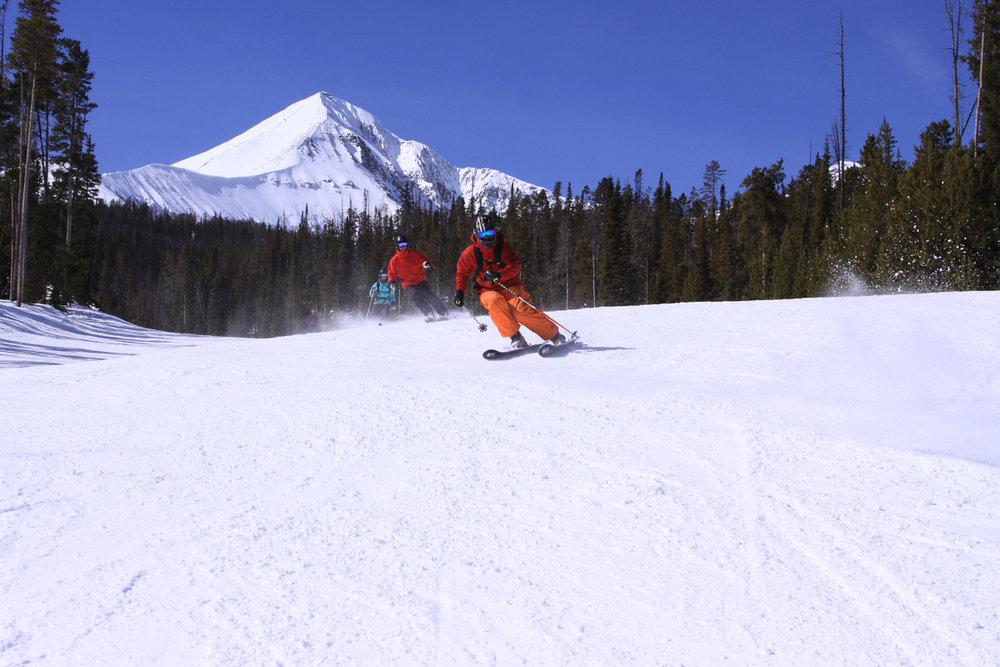 Skiers working up to the expert level need not be intimidated at Big Sky. - © Lonnie Ball