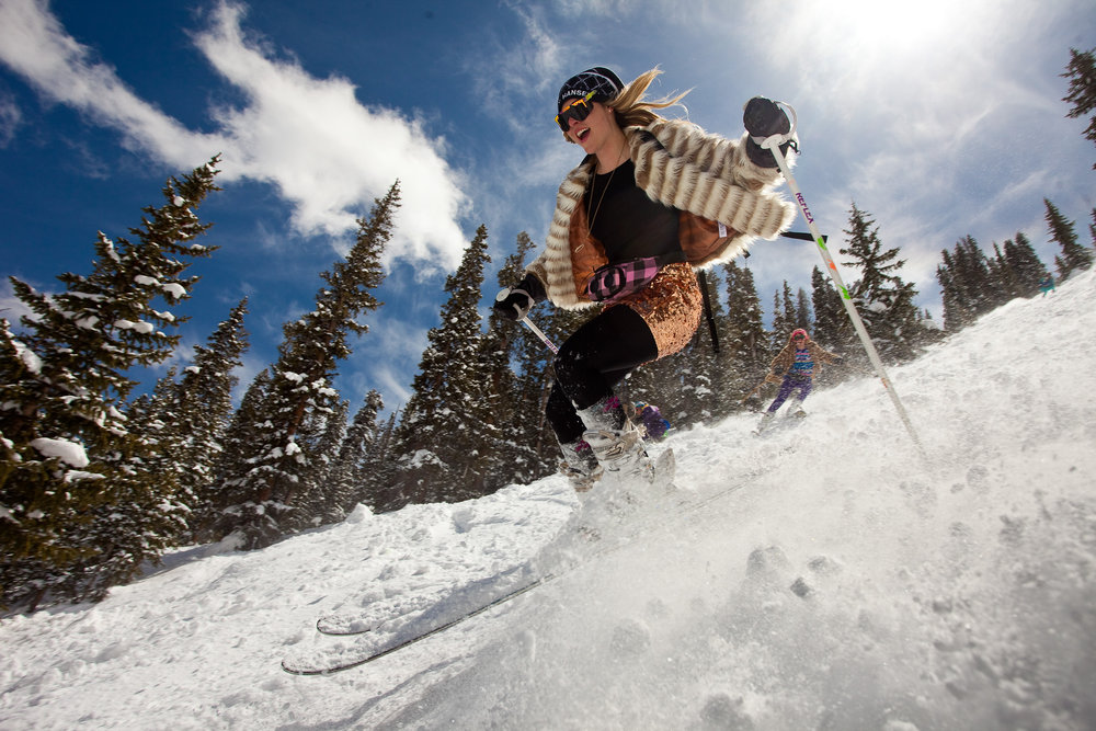Closing day at Aspen Highlands is the biggest party of the year and one that Meredith never misses. - © Jeremy Swanson