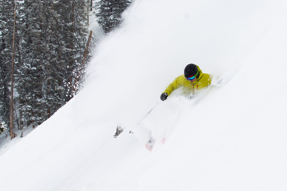 Getting deep on Ski Test day 2. - © Cody Downard Photography
