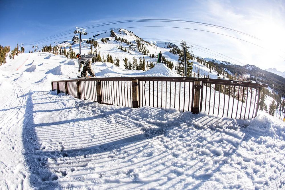 Mammoth Unbound features an unprecedented 11 terrain parks and three half pipes. - © Peter Morning