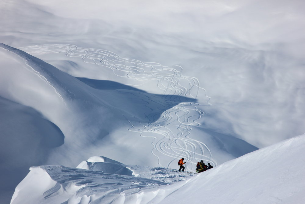 A prolonged storm cycle completely reset the snow pack in Alaska this season. - © H2O Guides