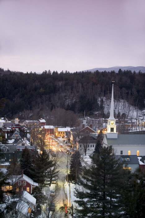 The quintessential Vermont Main Street in Stowe. - © Stowe Mountain Resort
