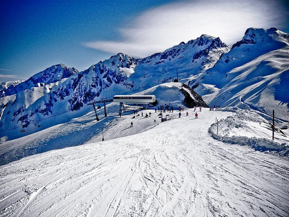 Sur les pistes de ski de Luz Ardiden - © NPY Luz-Ardiden