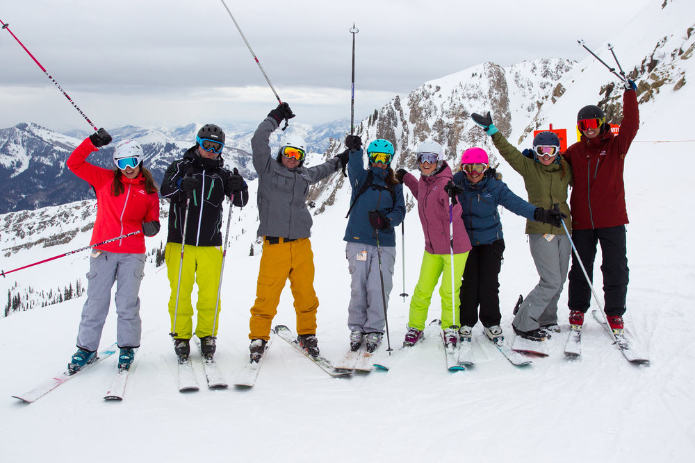 The team that skis together... loves their job! - © Cody Downard Photography