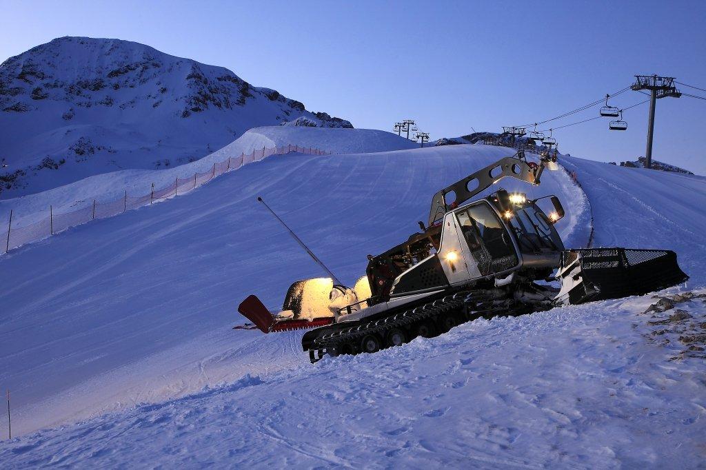 Préparation du domaine skiable de Superdevoluy / La Joue du Loup - © Office de Tourisme du Dévoluy