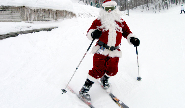 Ski Free With Santa on the Slopes of Schuss Mountain on Christmas Day! - © Shanty Creek Resorts