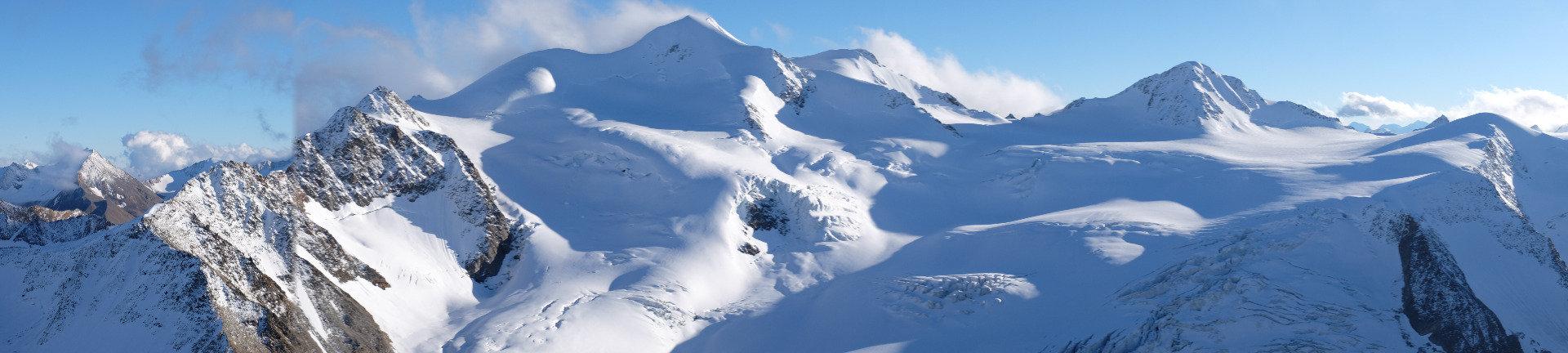Ausblick vom höchsten Punkt des Pitztaler Gletschers - © Skiinfo