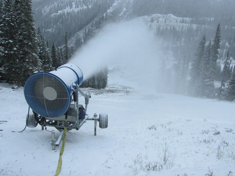 Arapahoe Basin Ski Area fired up its snow guns and kicked off the #race2open this week. - © Arapahoe Basin Ski Area.