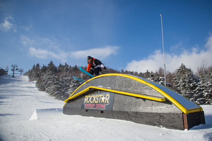 Okemo has partnered with Snow Park Technologies for consulting on terrain park design and development. - ©Okemo Mountain Resort