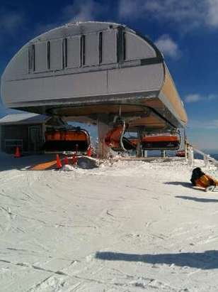 New lift is up and running. was not crowdy. Another good day at Okemo. Definitely worth a 3 hour trip.