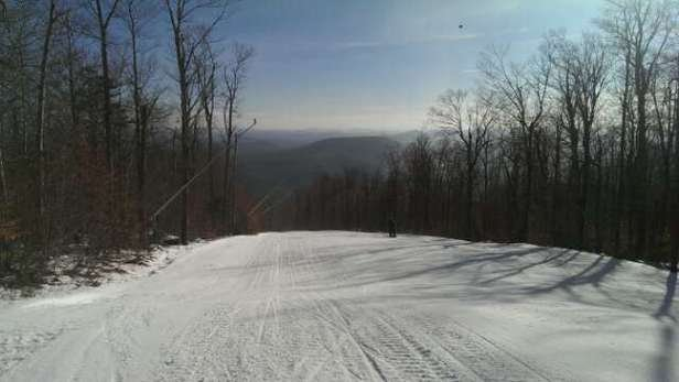 good fast snow on the trails that are open.