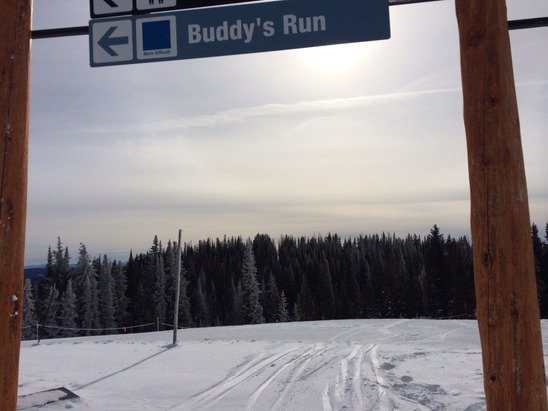 Got in on the buy-one-get-one cyber Monday deal. Spent the weekend at Steamboat.  Groomed / packed powder, little slushy in the sun, little icy in the shade. Fun and pretty decent given how early it was in the season.  Buddy's Run was a favorite. No waits on the lifts.