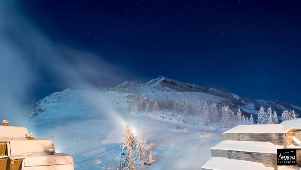Avoriaz (FRA)  in der Nacht zum 10.12.2014