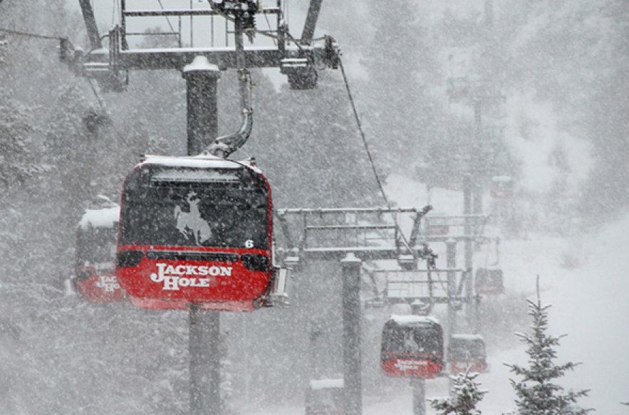 Snow comes down at Jackson Hole. - © Jackson Hole Mountain Resort