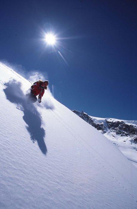 Sciatore a Saas Fee
